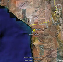 Arica Chile [18°29'N, 70°18'W, elevation: 65 m (213 ft)]