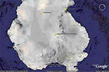 Amundsen-Scott South Pole Station, Antarctica [90°S, elevation: 2,835 meters (9,301 ft)]