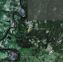 Ust 'Schugor, Russia [57°45'E, 64°15'N, 85 m (279 ft)]